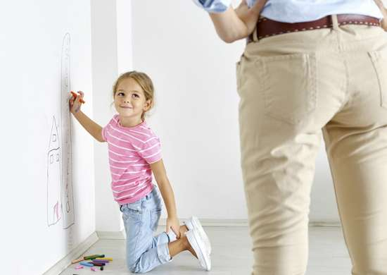 Remove crayon from wall with mayonnaise