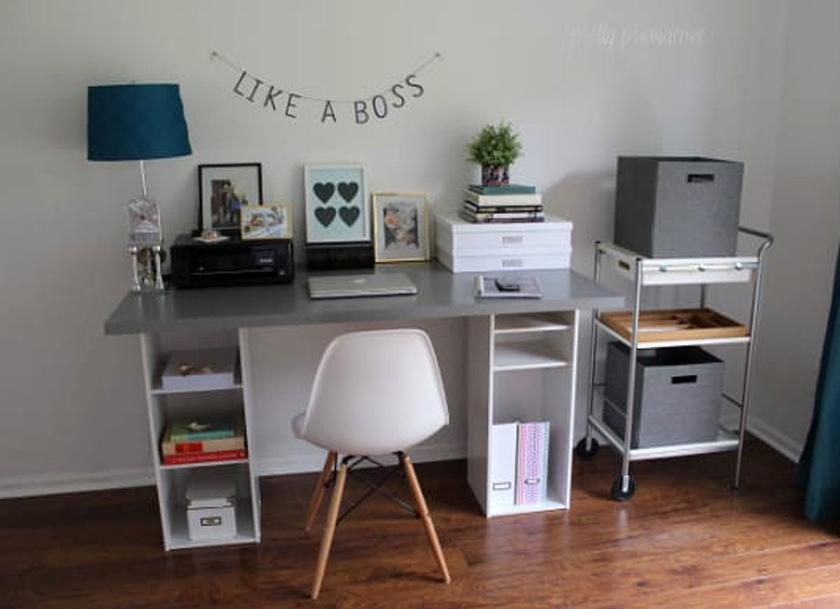 A Simple Trick For Nook Workplace Desk Revealed DIY Desk with Cubbies