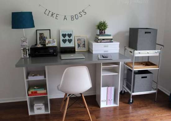 DIY Desk with Cubbies