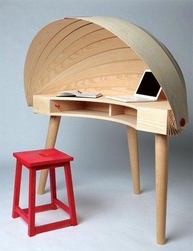 Designspiration.net duplex workspace retractable hooded desk sophie kirkpatrick yanko design