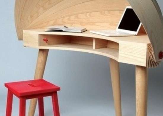 Designspiration.net duplex workspace retractable hooded desk sophie kirkpatrick yanko design