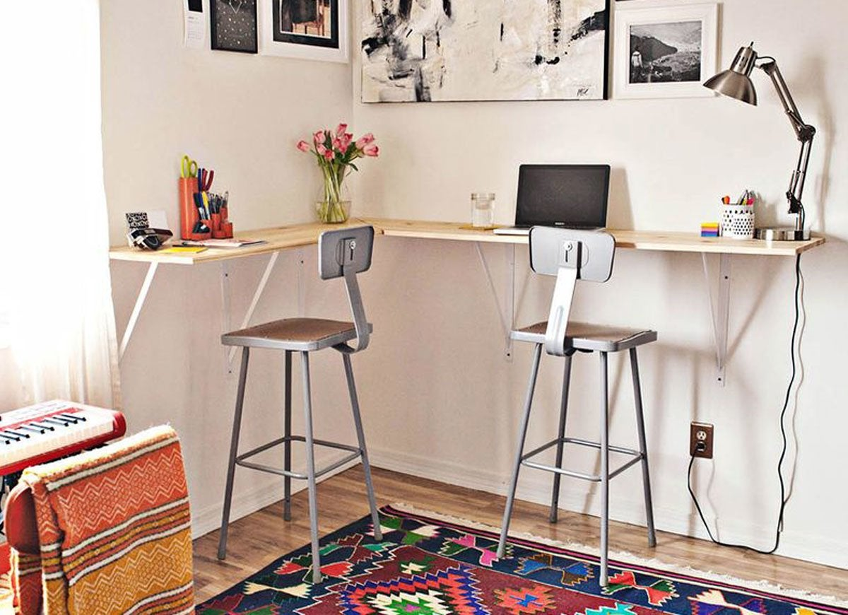 Diy desk 15 easy ways to build your own bob vila Diy work desk