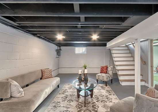 Paint Basement Rafters
