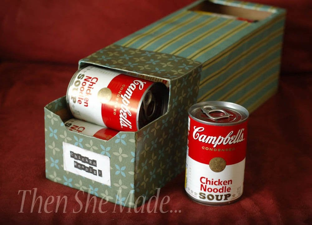 Soda can soup holder