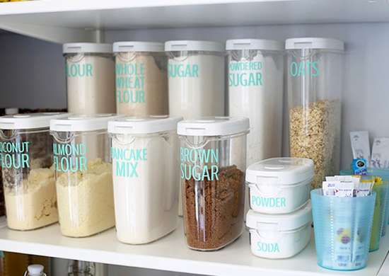 Pantry container labels