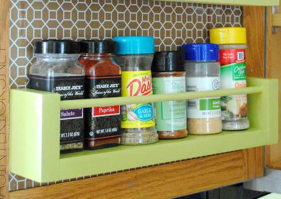Scrap Wood Spice Rack