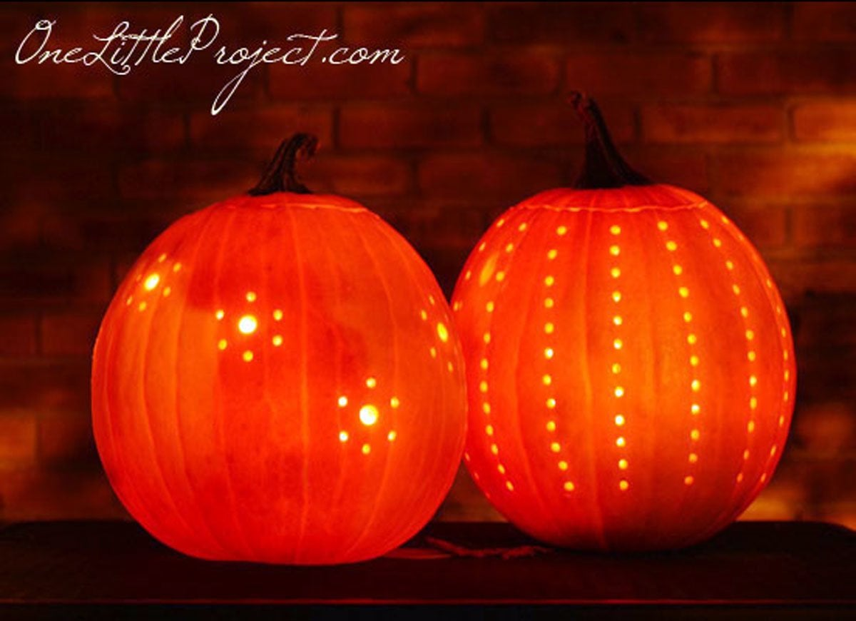 Drill Holes In Pumpkin Pumpkin Carving Hacks 12