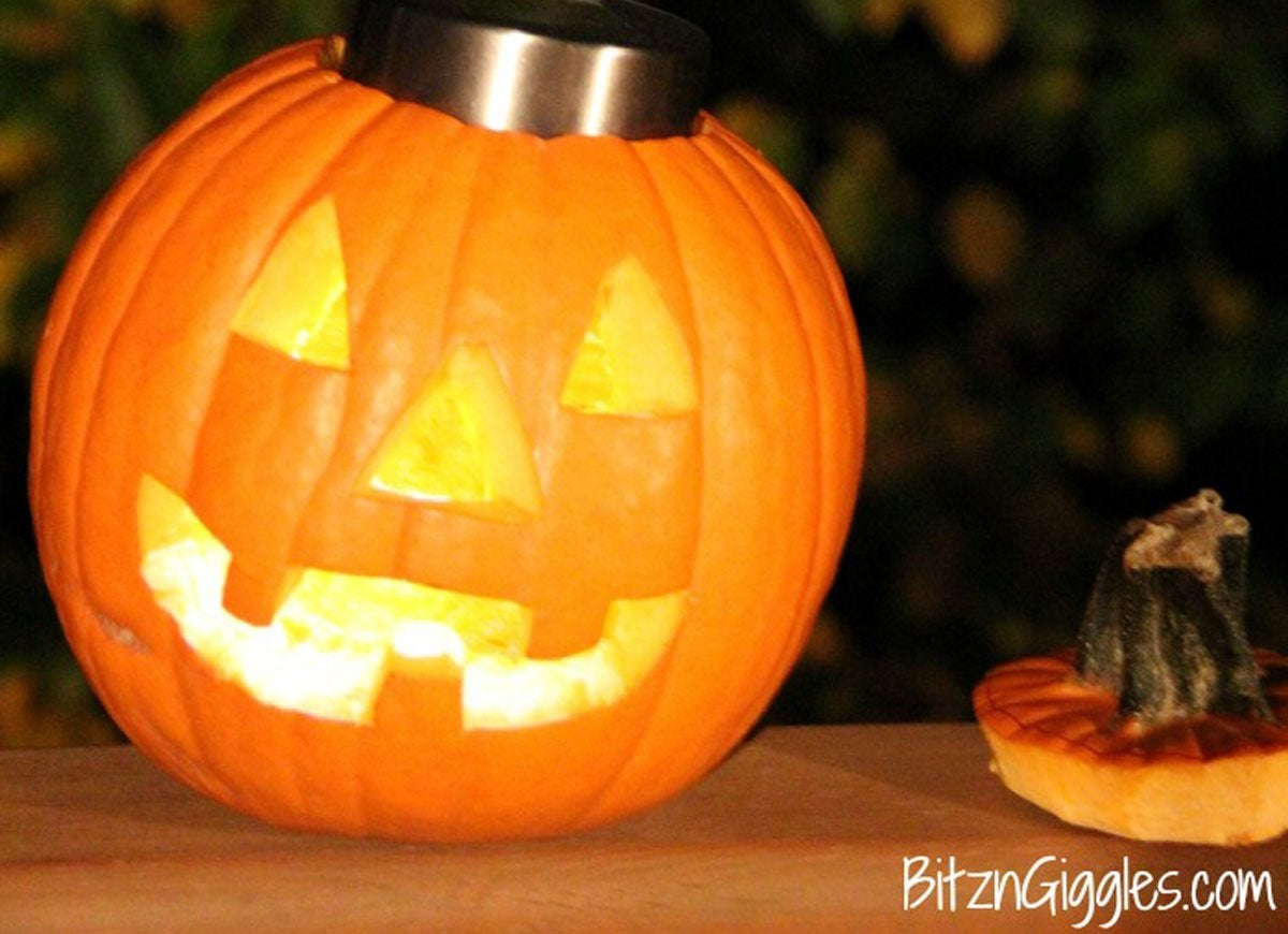 Battery Light For Pumpkin Pumpkin Carving Hacks 12
