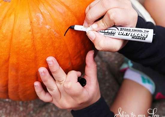 Pumpkin dry erase
