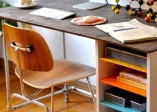 Posh Pipe Desk DIY Desks Best Desks to Buy or Build Bob Vila