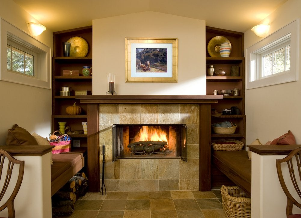 Inglenook and fireplace