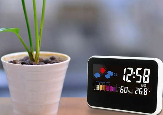 Weather alarm clock