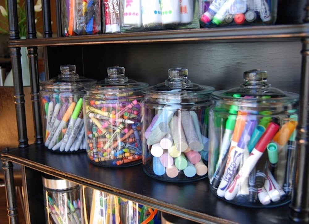 Kids craft supplies storage