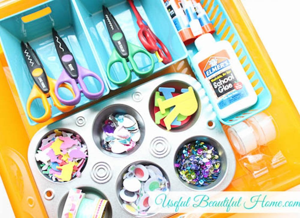 Craft supply drawer