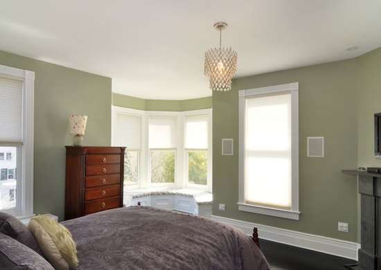 Sage green bedroom