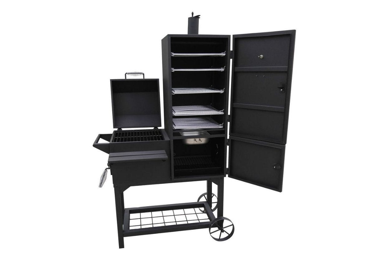 rustler 40 in vertical smoker and grill top 5 this week 39 s hottest grill deals bob vila. Black Bedroom Furniture Sets. Home Design Ideas