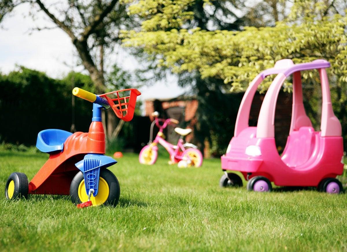 Toys in yard