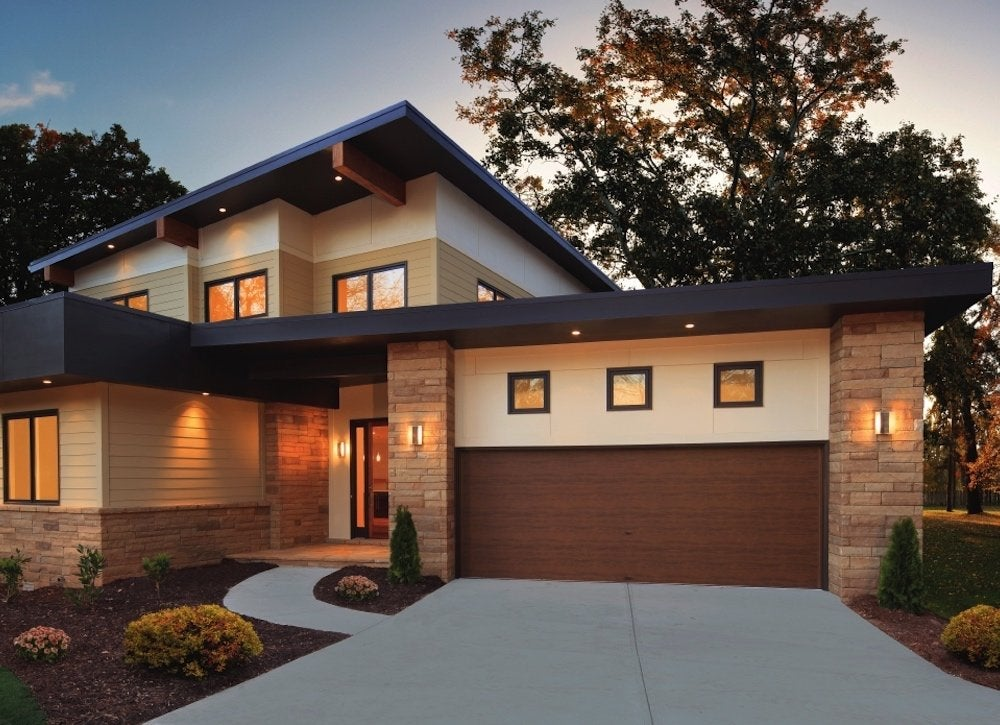 Clopay modern steel garage doors