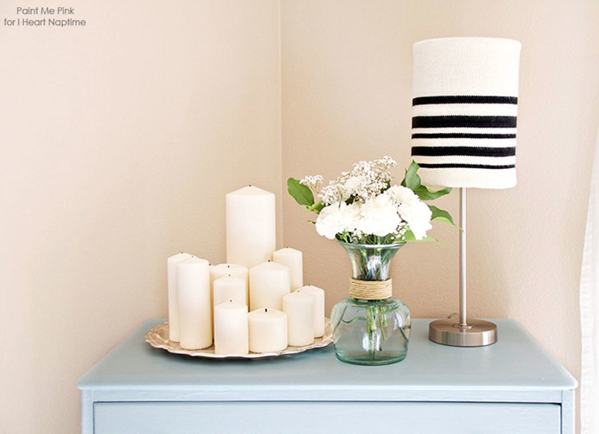 Knit sweater lampshade