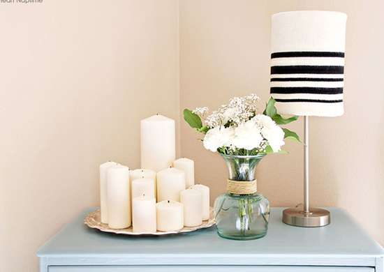 DIY Sweater Lampshade