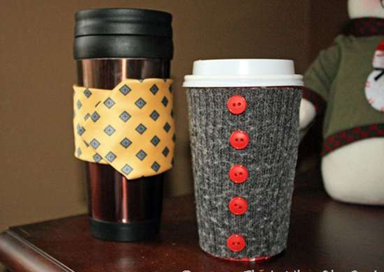 DIY Sweater Sleeve Coffee Cozie