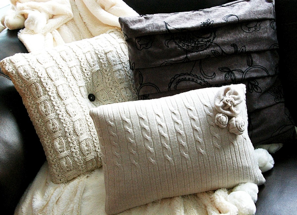DIY Sweater Pillows - Repurpose Sweaters - 14 DIY Ideas - Bob Vila