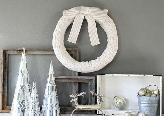 DIY Sweater Wreath