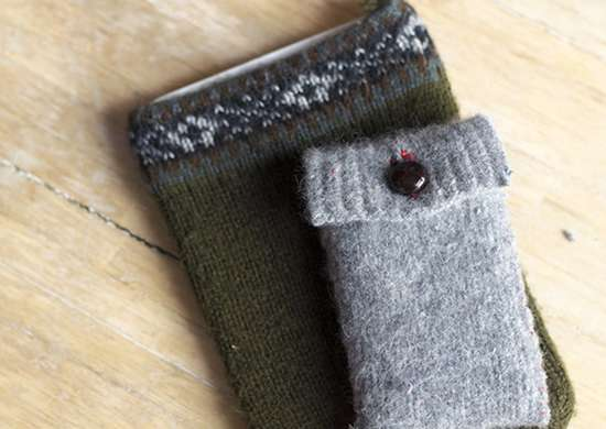 DIY iPhone or iPad Case with Sweater