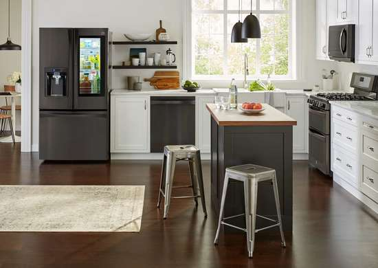 Black Stainless Steel Refrigerator from Kenmore