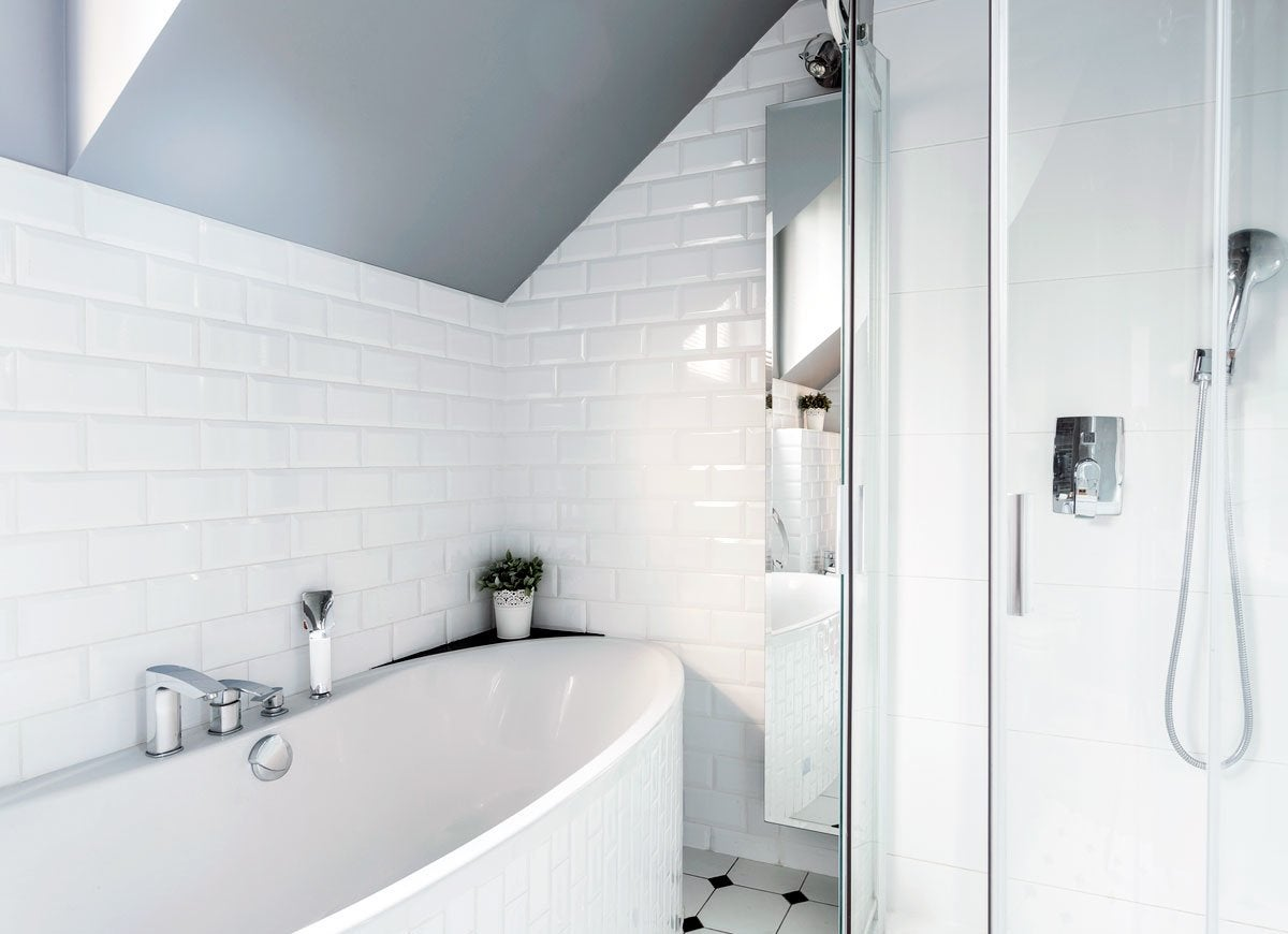 Painting advice 10 things you should never paint bob vila for Painting shower tiles bathroom