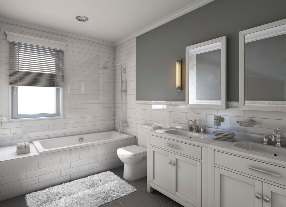 White gray bathroom
