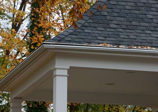 Easy leafguard gutters on country estate