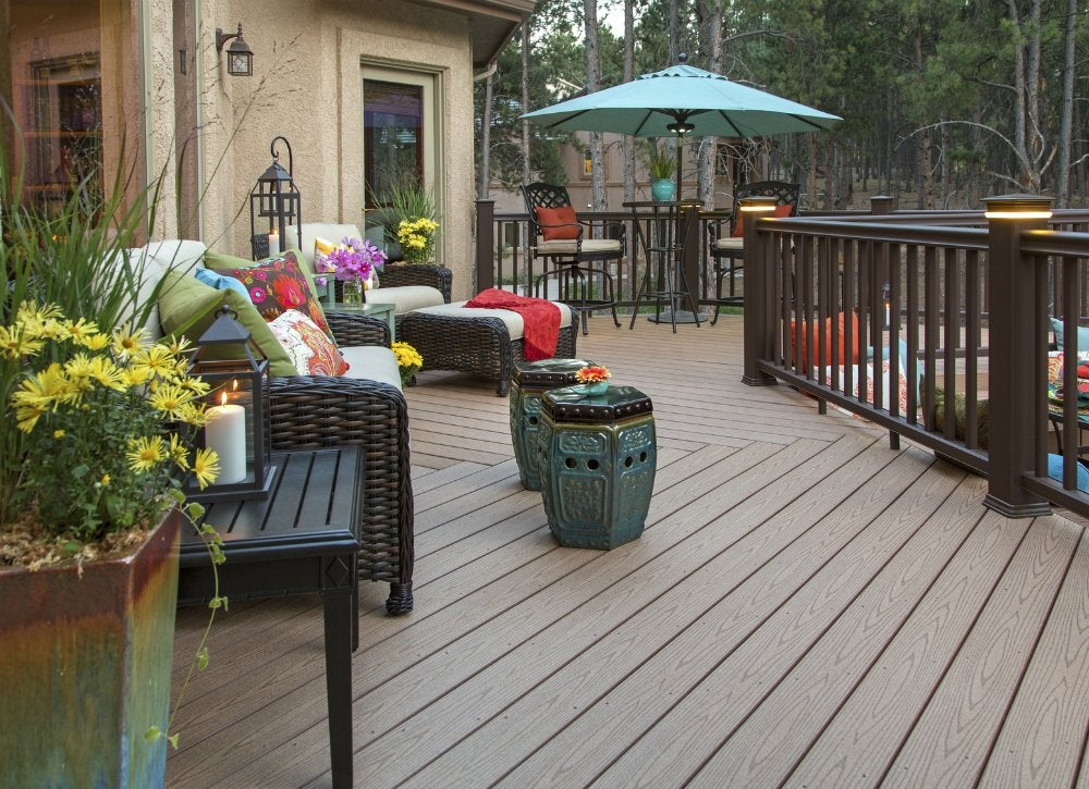 Easy composite lumber deck