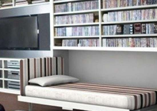 Murphybedlifestyles.com entertainment room murphybed
