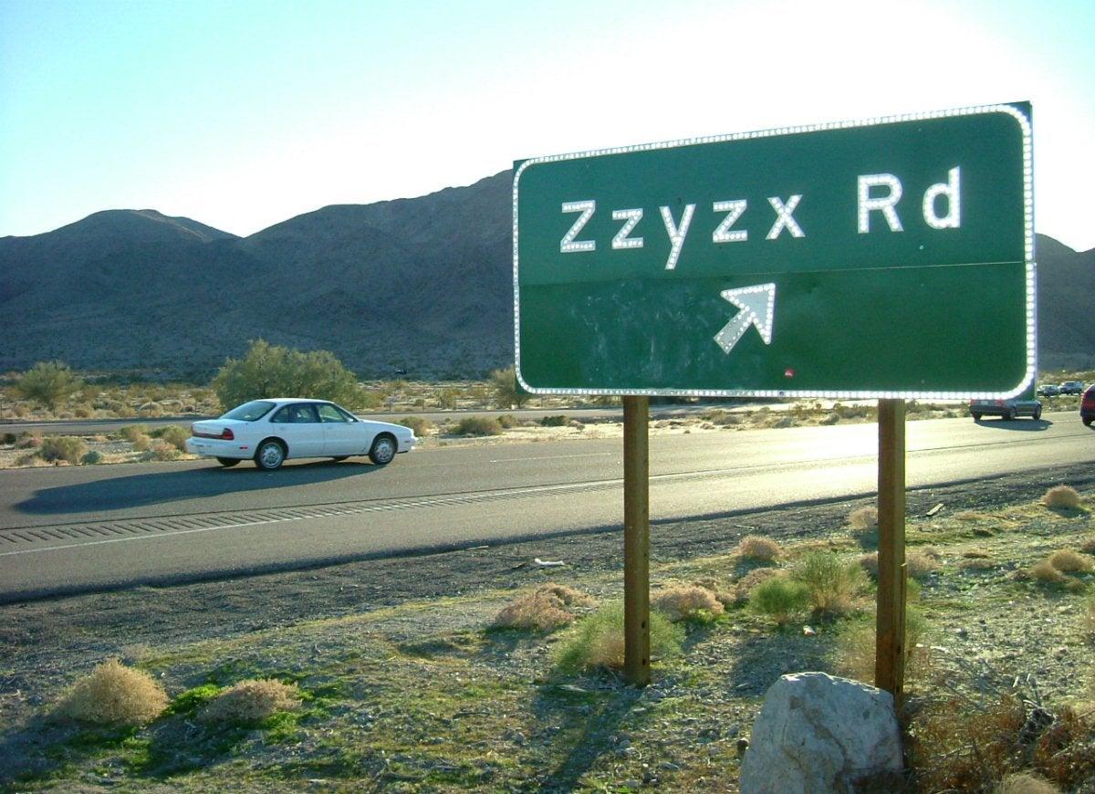 Zzyzx california