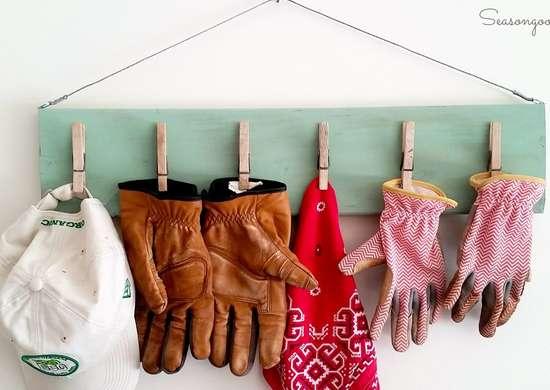 Hat and glove storage