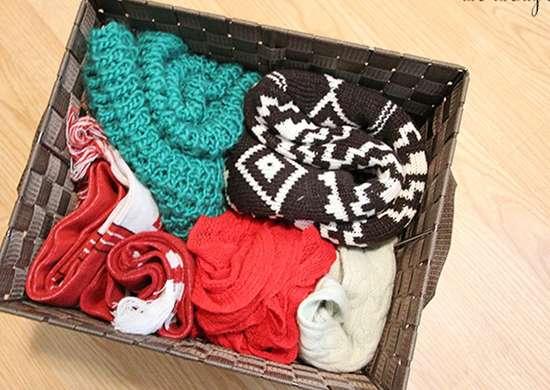 Store Winter Gear in Basket