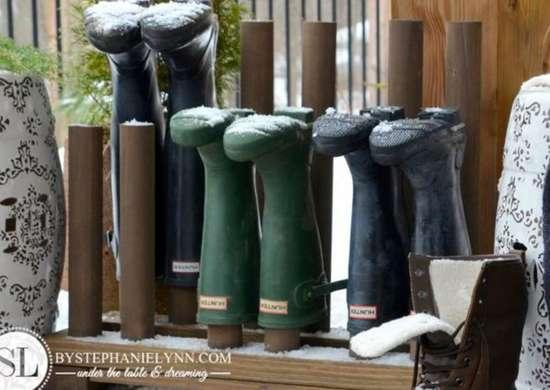 DIY Boot Peg Rack
