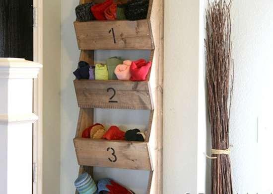 DIY Wall Storage Bins