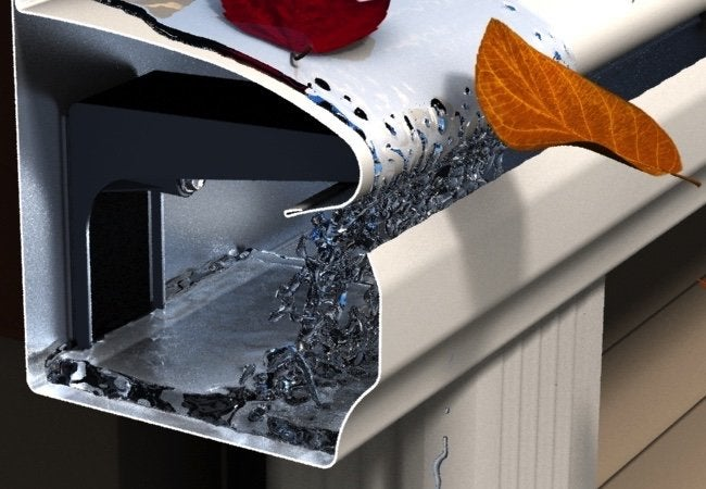 Surface tension gutter leafguard