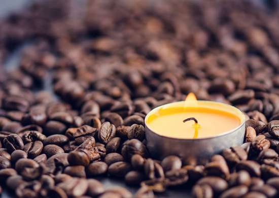 Put a Candle in Coffee Beans