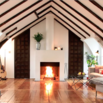 Dormer Room with Fireplace
