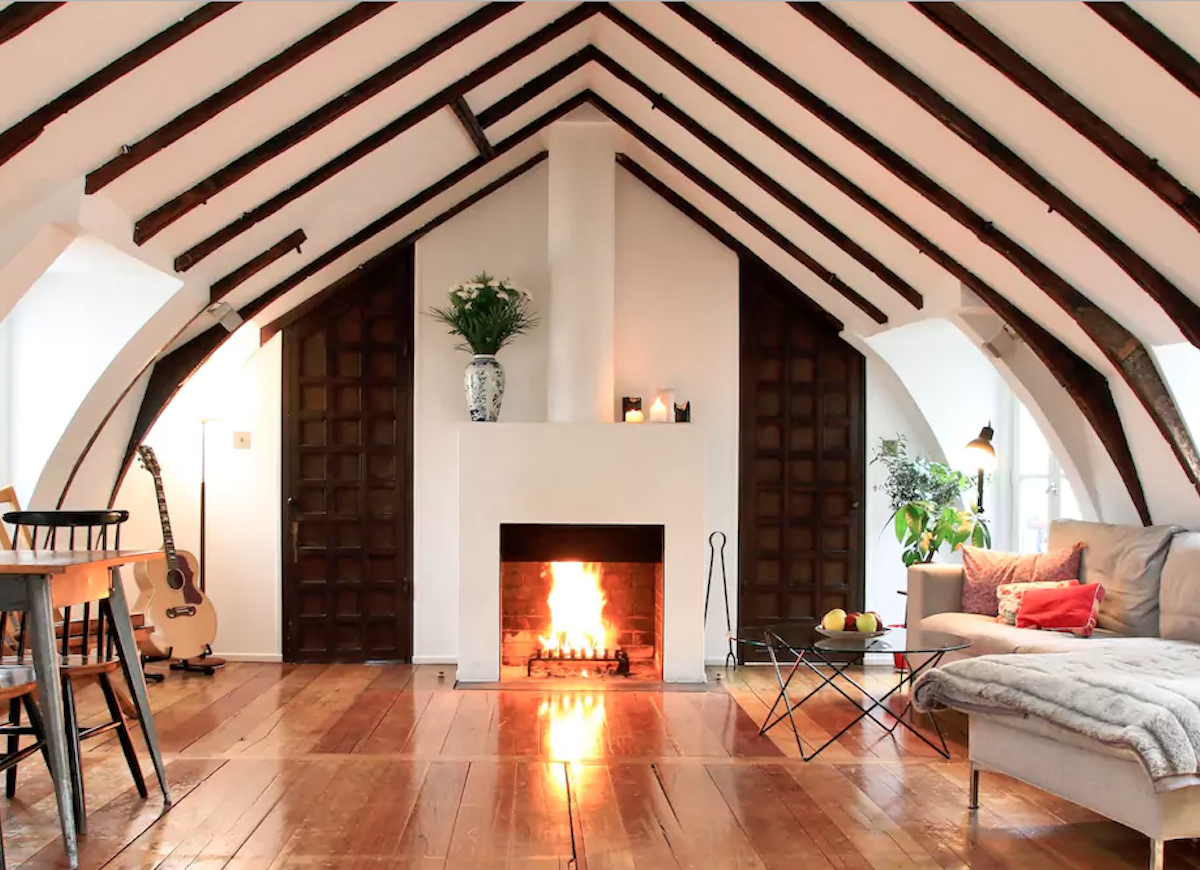 Dormer room fireplace