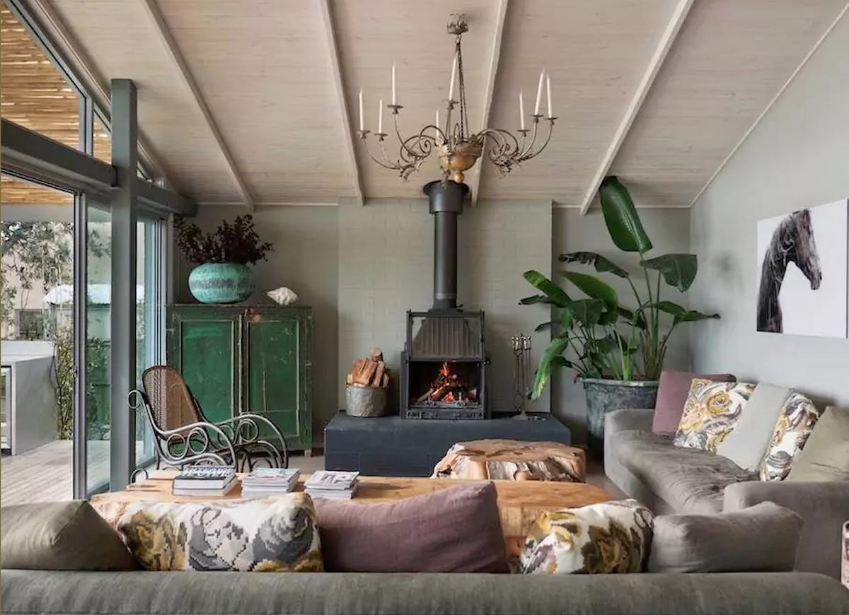 Vintage fireplace