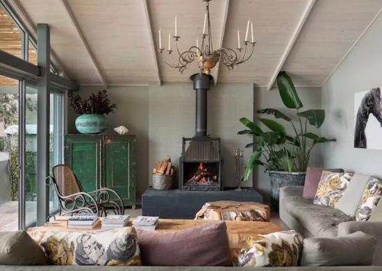 Vintage Metal Fireplace