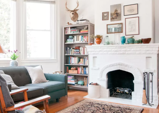 White-living-room-and-fireplace