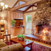 Cabin Style Fireplace