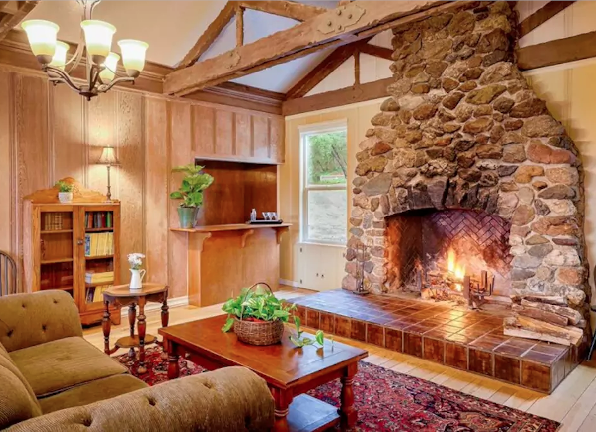 Cabin-style-fireplace