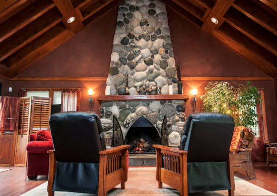 River-rock-fireplace