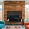Industrial Wood Fireplace Surround